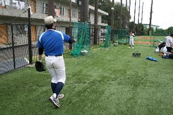 芸大軟式野球部も頑張っています!!