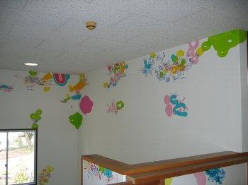 東山保育園 wall painting    2009