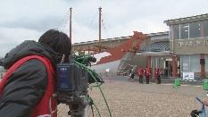 遣唐使船が復元された平城京歴史館