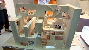 建築学科の学生による住宅模型も展示!