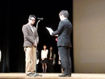 川田潮キャラクター造形学科准教授が代理出席してくださいました。