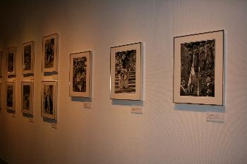 カルティエ=ブレッソンが生活していた、パリでの作品を展示しています。