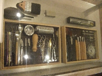 制作に使用した道具たちです。