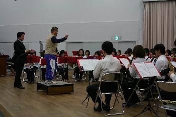 河南町立中学校吹奏楽部も頑張りました!!