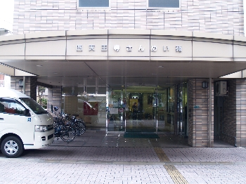 天王寺駅から徒歩7分のところにあります。