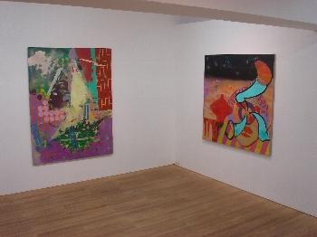 左「 かくれんぼ ロジック 」acrylic color on canvas F80 / 1455 x 1120 mm