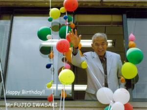 岩崎先生お誕生祝い写真